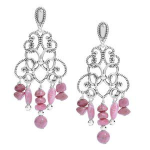 CAROLYN POLLACK .925 SHADES OF PINK CHANDELIER